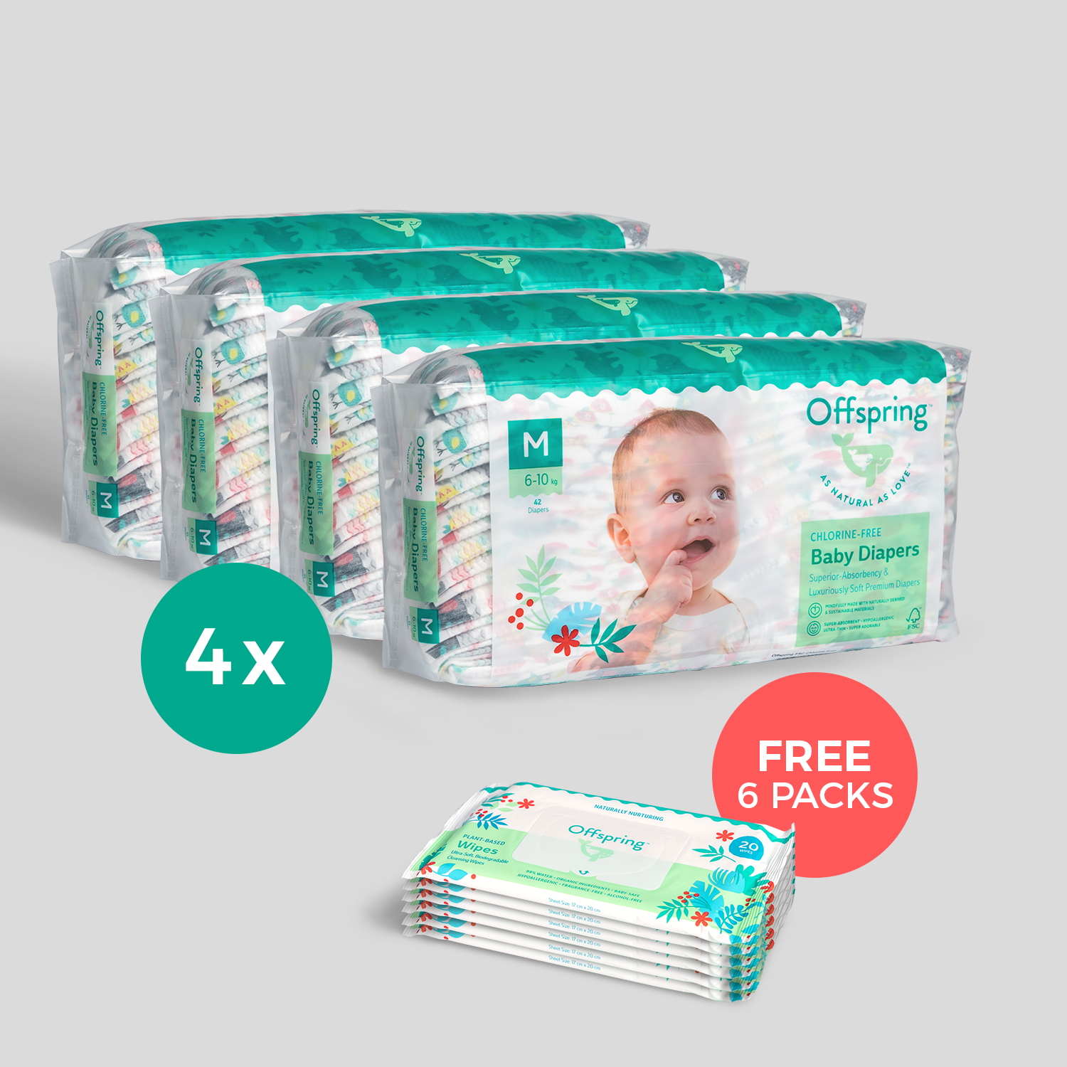 4-Pack Fashion Diapers