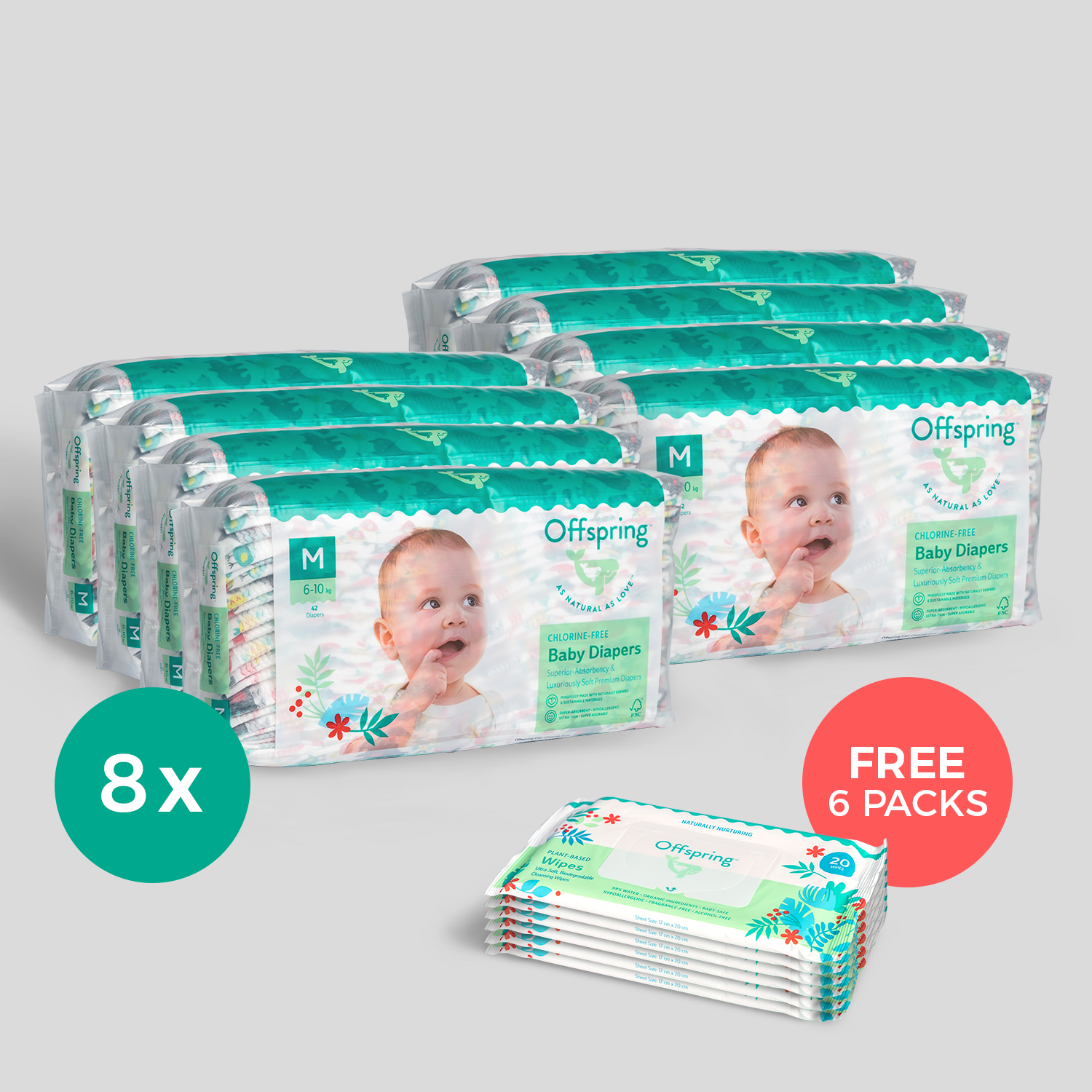 8-Pack Fashion Diapers