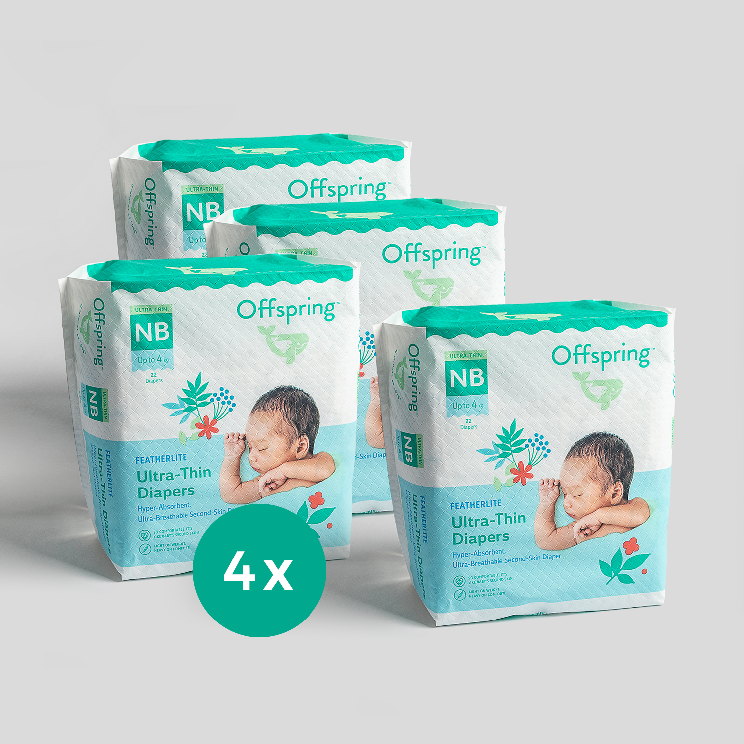 4-Pack Newborn Diapers